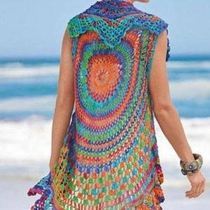 Bohemian hippie circle vest